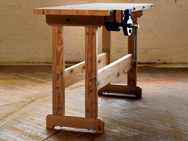 Cool DIY Woodworking Bench How-To - The Shelter Blog