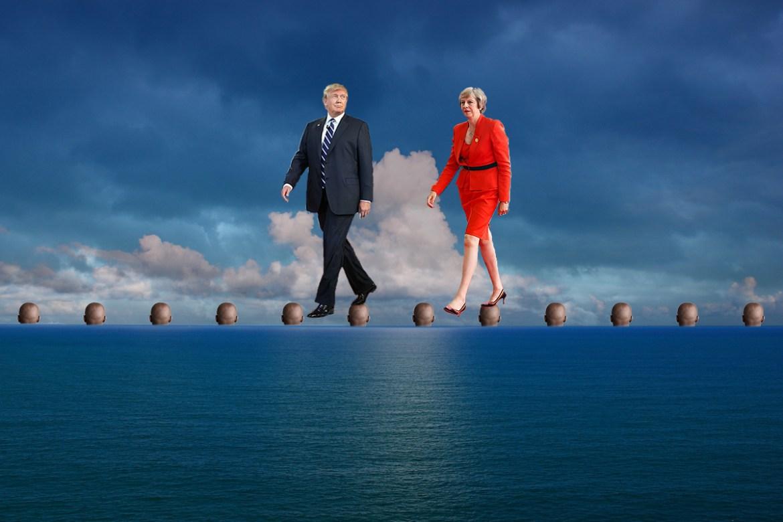 Transatlantic Bridge >> Trump And May To Build Transatlantic Bridge On Bodies Of Dead