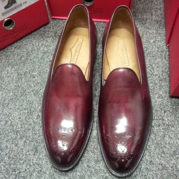 J.FitzPatrick Laurelhurst Whole Cut Loafer Burgundy