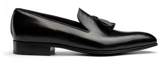 JM Weston whole cut loafer with tassel