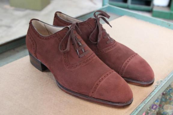 Bestetti brown suede adelaide oxford