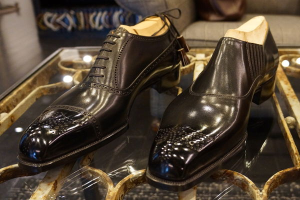 black oxfords bespoke Yuki Shirahama