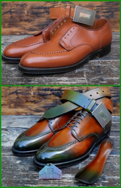 Dandy Shoe Care patina apron toe