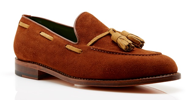 Kimber-Shoes rust suede tassel loafers