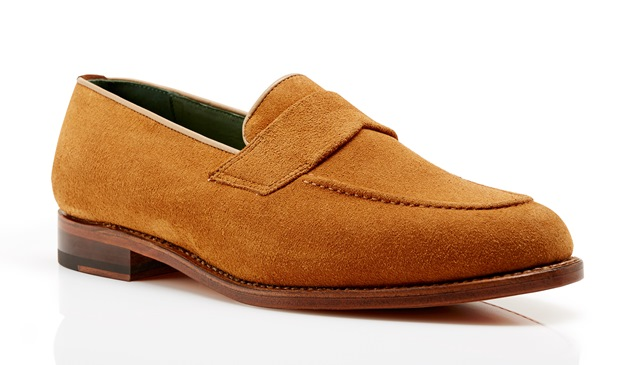 Kimber-Shoes tan suede loafers