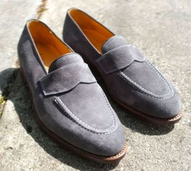 Christian Kimber shoes grey suede loafers
