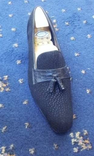 George Cleverley Bespoke carpincha loafers