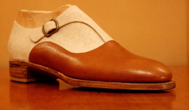 Two Tone Monk strap Antonio Pio Mele