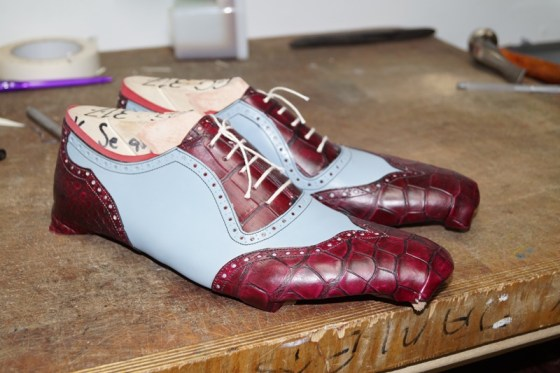A friends' shoe in the making, of which I won't name but that I am sure you will see on the web soon!