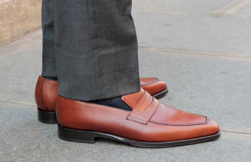 Grained Leather Loafers by Septieme Largeur