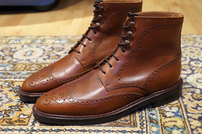 The Holman brogue boot. (but the actual one will come with metal eyelets on all holes)
