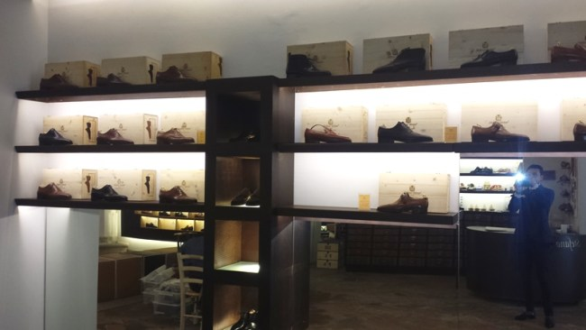 a nice display of shoes