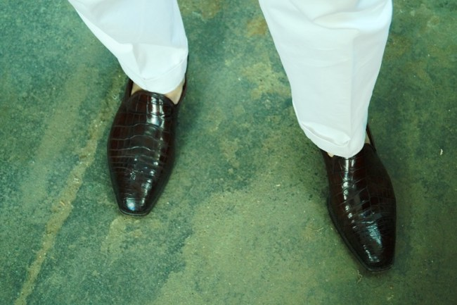 Riccardo in his white trousers and croc loafers, you gotta love it!