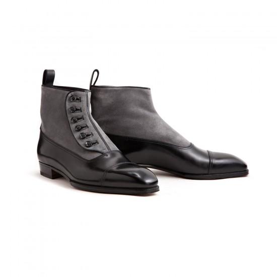 Enzo Bonafe Button Boots Black