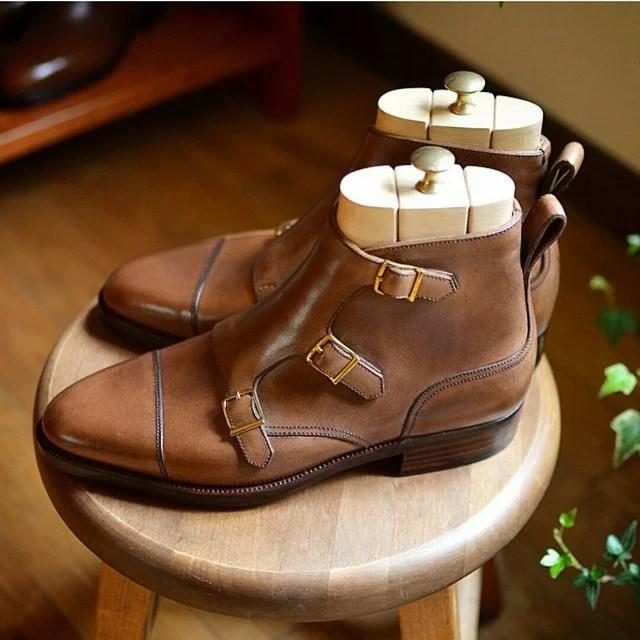 Hiro Yanagimachi Triple Monk Boots