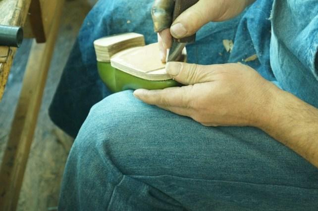 preparing the toe taps