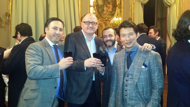 Dean Girling, Andy Murphy of Foster & Son, Tony Gaziano and Wei Koh of The Rake