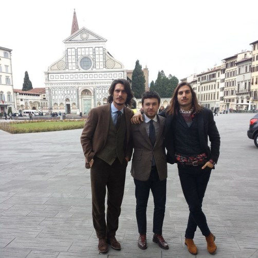 Myself and the brothers from Barbanera, Sebastiano and Sergio