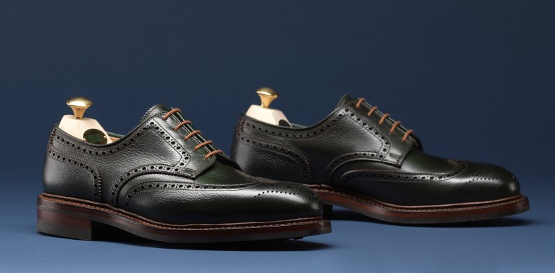 4.Pembroke Dark Green Scotch Grain - Crockett & Jones AW15
