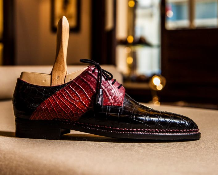 Dimitri Gomez bespoke shoes, picture courtesy of Parisian Gentleman