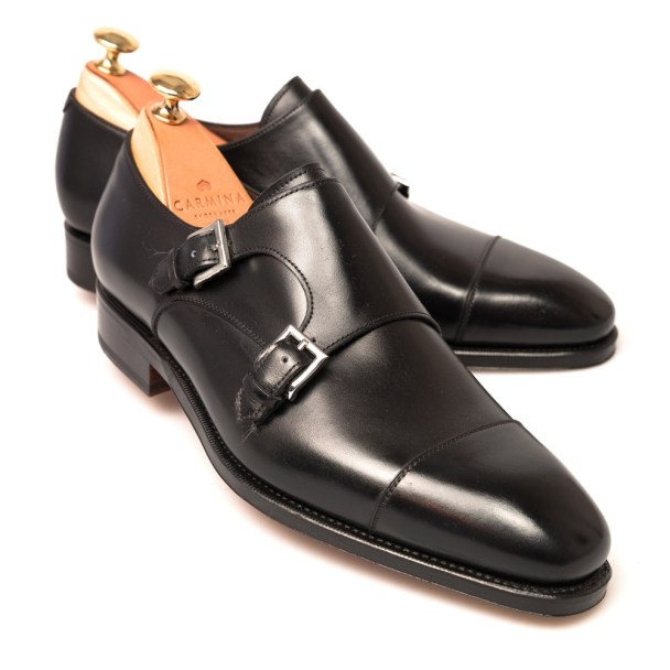 double_monk_strap_black - Carmina