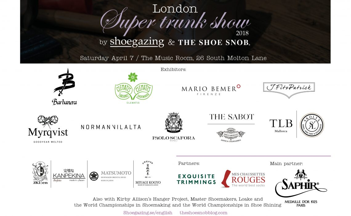 London Super Trunk Show 2018 The Shoe Snob Blog