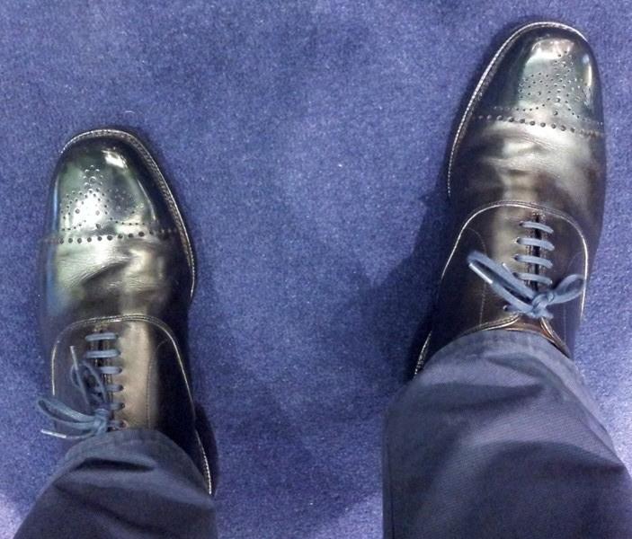 What I Am Wearing – Black & Blue – The Shoe Snob Blog