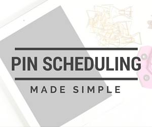 simple pin scheduling