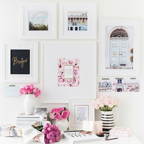 Grow your business with better product photography-dream home office with gallery wall