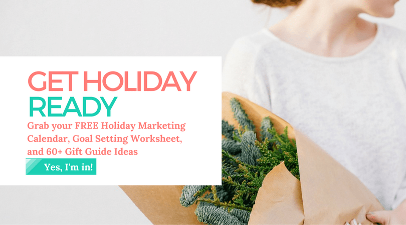 Holiday Marketing - Plan.Create.Celebrate email sign up