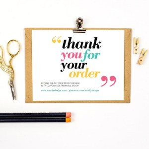 shipping supplies - thank you card for orders | shipping supplies for Etsy sellers