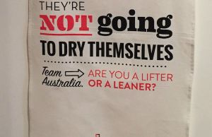 Team Australia tea towel