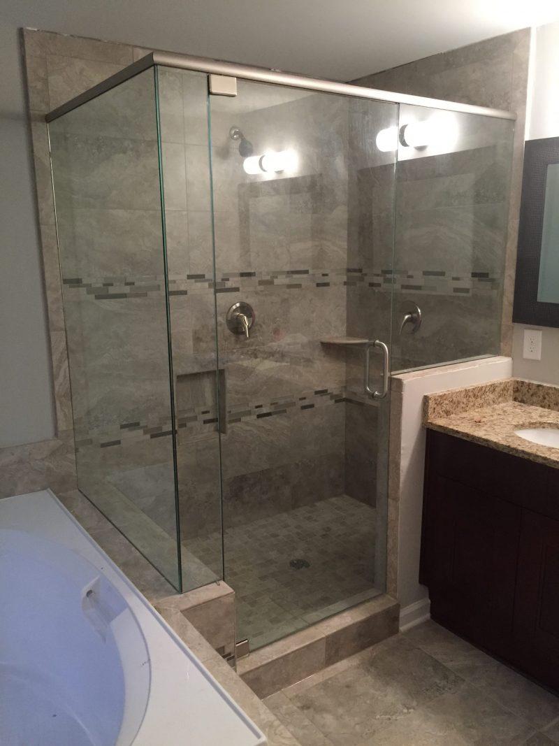 Frameless Showers With Header Frameless Shower Doors