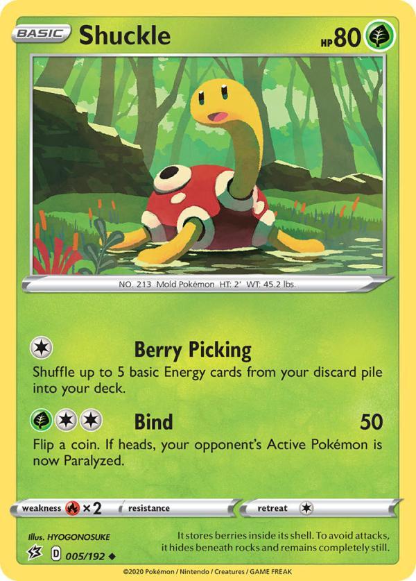 Shuckle 5/192 Pokemon Rebel Clash