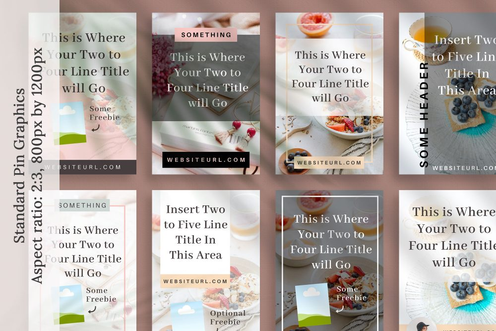 Pinterest Graphics Canva templates - Bloom