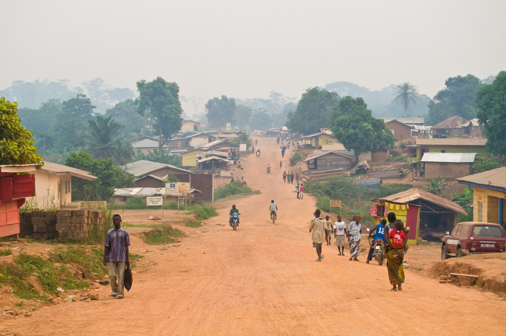 The main road into Kailahun. Sierra Leone. Photo taken April 8, 2010.