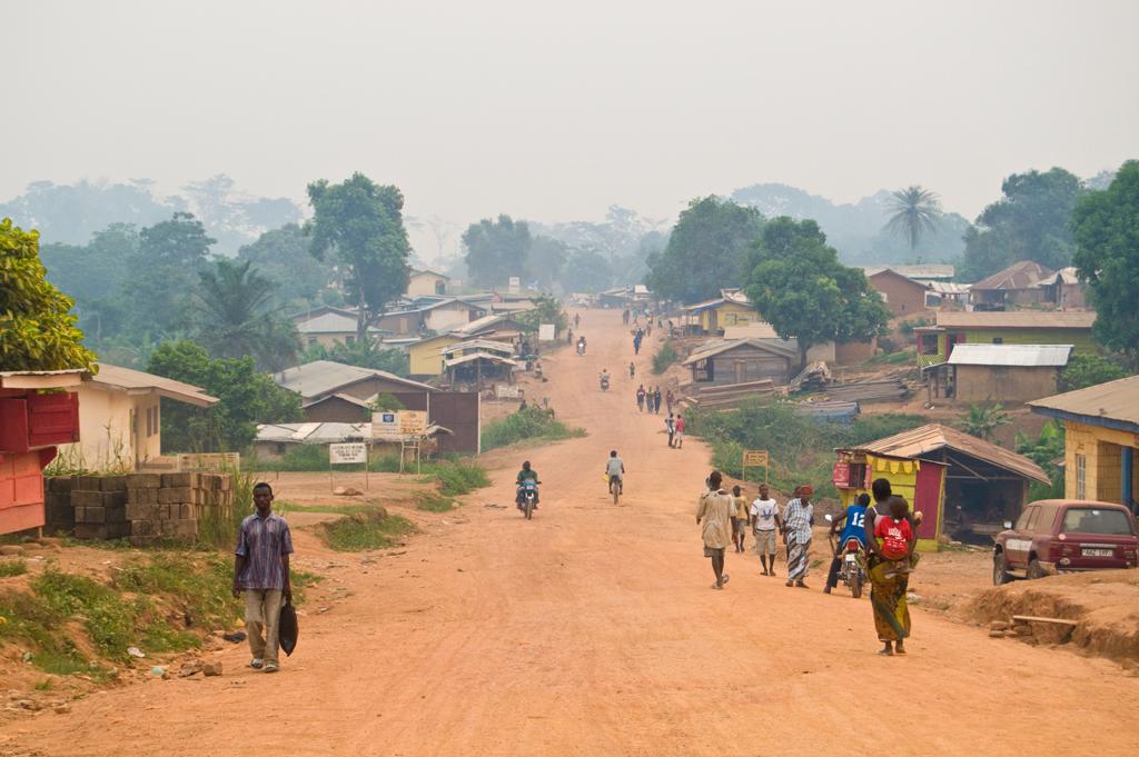 The main road into Kailahun. Sierra Leone. Photo taken April 8, 2010.
