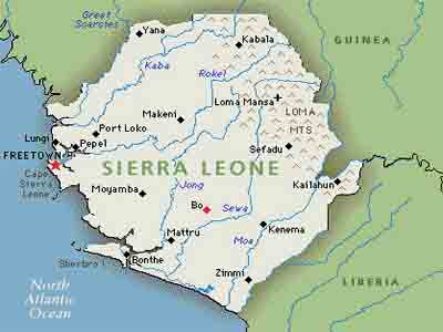 MAP OF Sierra-Leone