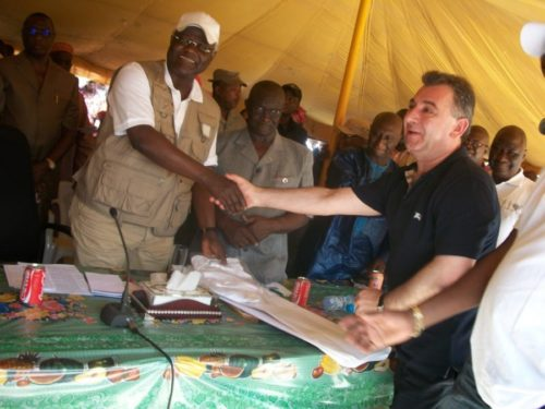 President Koroma and Frank Timis – who pays the piper calls the tune