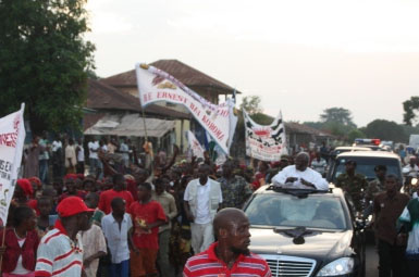 President Koroma-in-Makeni