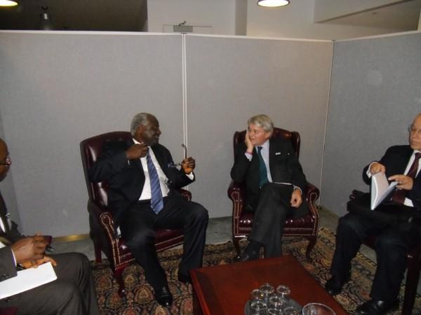 President Koroma meets British Development minister – Andrew Mitchell at UN
