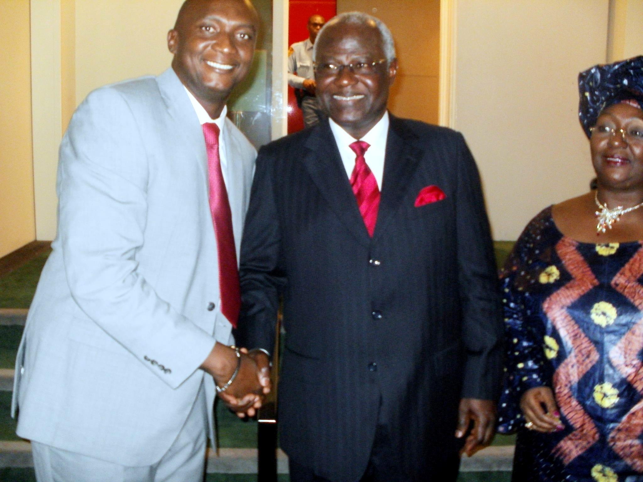 President koroma UN – Ernest  Mrs  Sia N  Koroma with Salonean