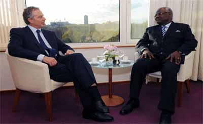 Tony Blair and President Ernest Koroma