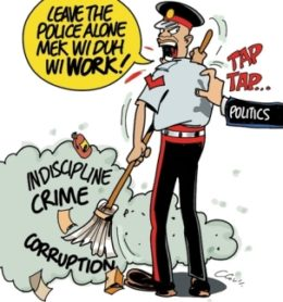 cartoon – leave the police alone – the jamaican observer