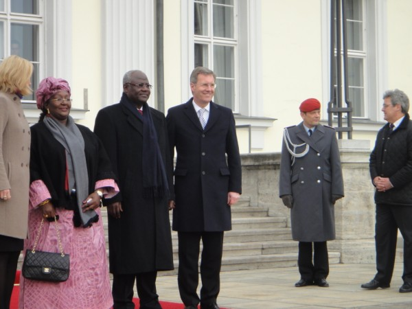 president koroma in GERMANY 1 – 2011