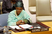 zainab Bangura – Foreign Minister at UN sept 2010