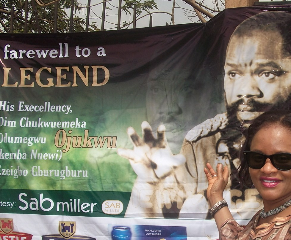 Ngozi Achebe – with poster of General Ojukwu –  1st March 2012