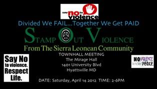 Say No to Violence