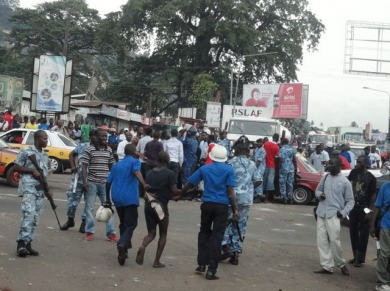 Recent youth social disturbance in Freetown