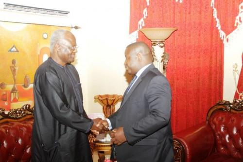 Maada Bio and President Koroma